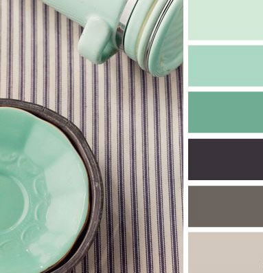 Modern Tablecloth and Stoneware for color scheme inspiration