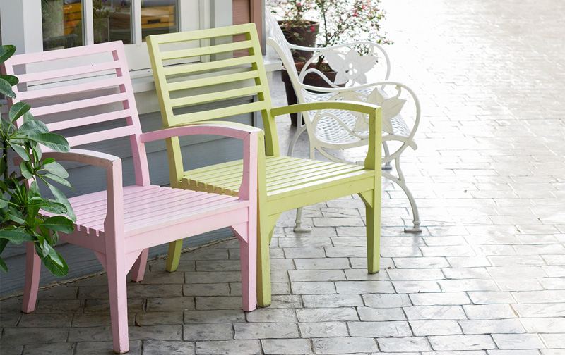 Spring Painted Chairs