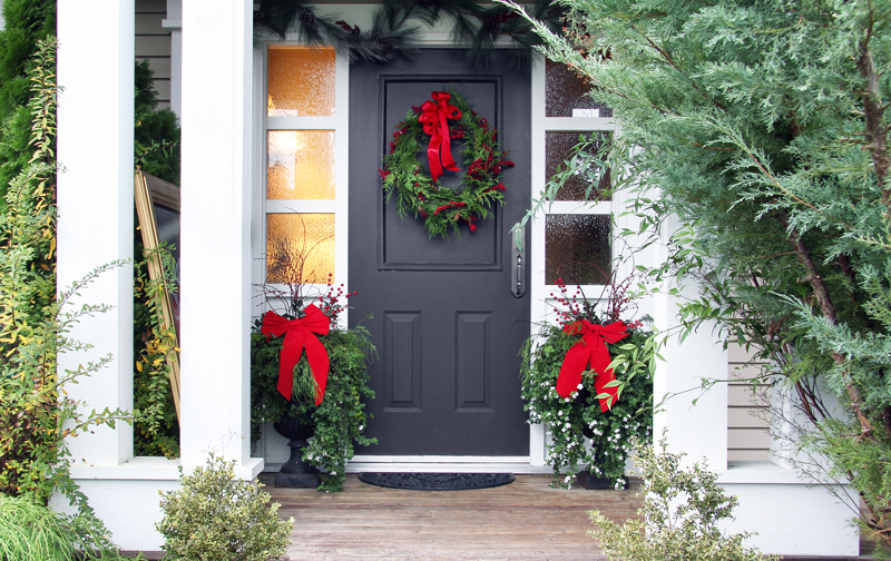 Holiday Countdown Front Door Inspiration