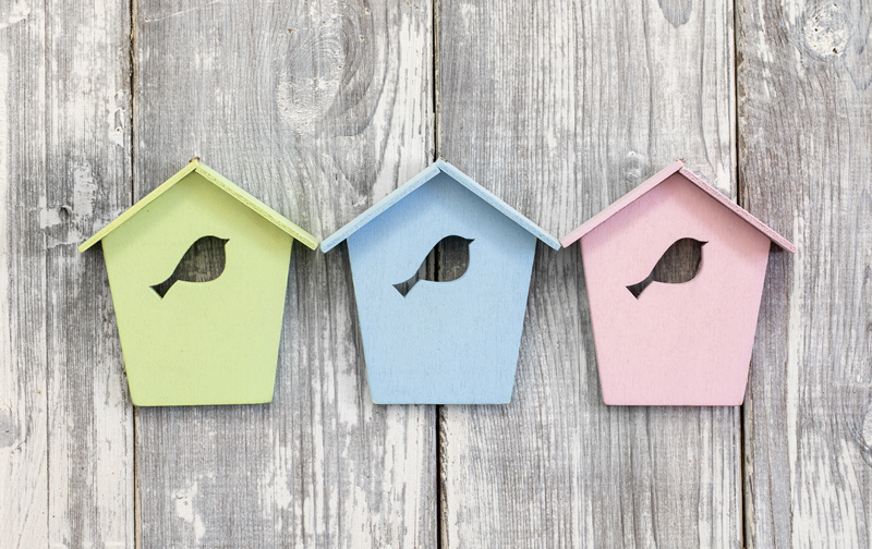 Spring Colors Bird Box Trio