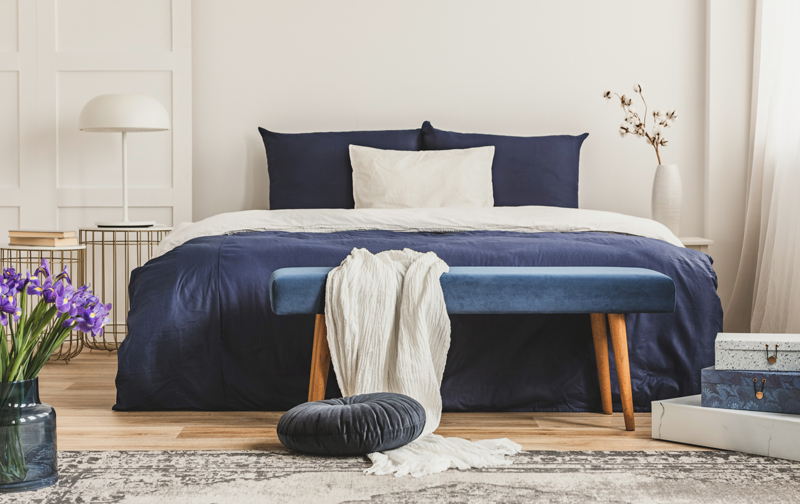 New Navy Bedroom Inspiration