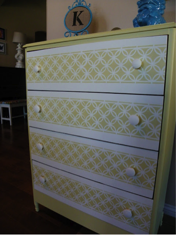 Painted dresser drawers from Remodelaholic.com