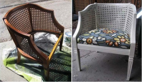 Before and After Wicker Chair from BobVila.com