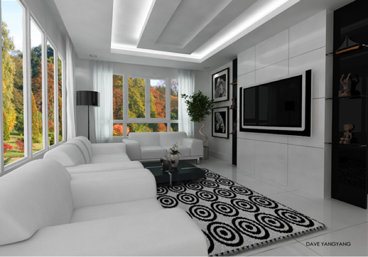 Modern Living Room Space from HomeDesignLover.com