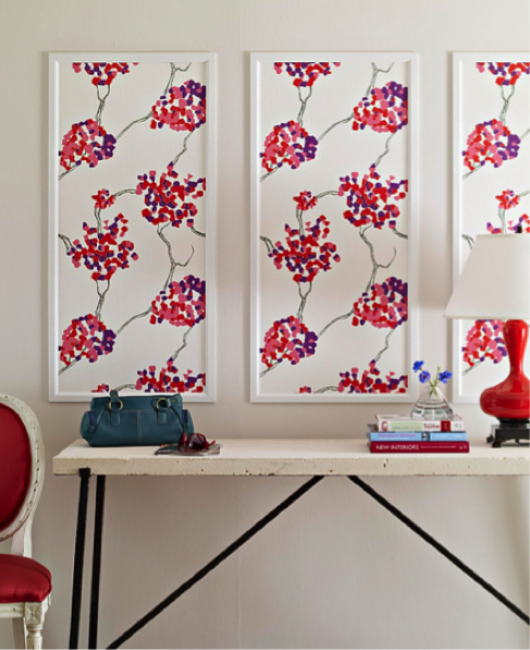 Wallpaper as wall art from Better Homes and Gardens